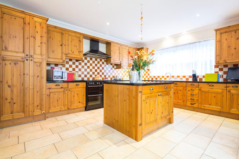 Heart of the house - featured kitchen with breakfast area, utility room, large conservatory