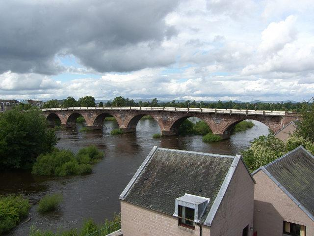 view across the river tay
