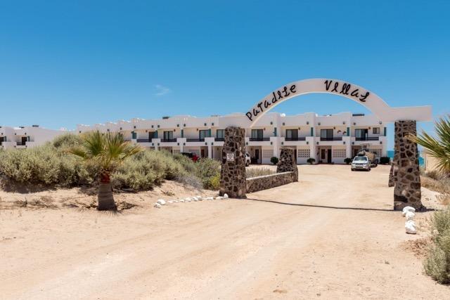 Entrance to the villas