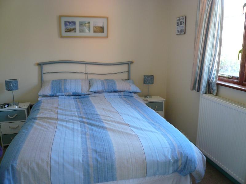 Cool calm comfortable bedroom