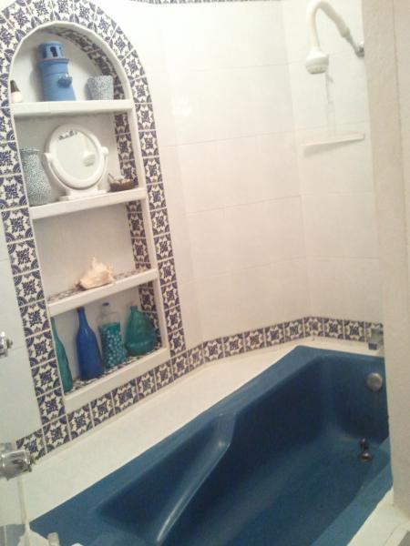 Master bath has wonderful spacious shower/tub