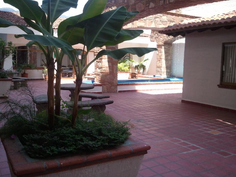 Courtyard of the building.