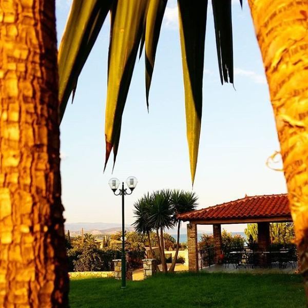 Cactus, lawn gardens, BBQ with stunning sea views
