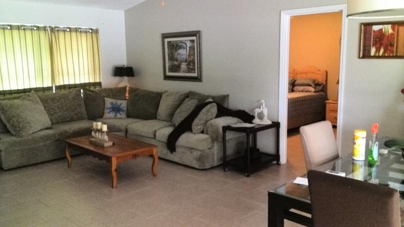 Main family TV room with very comfortable sofas. Great for relaxing and watching TV.