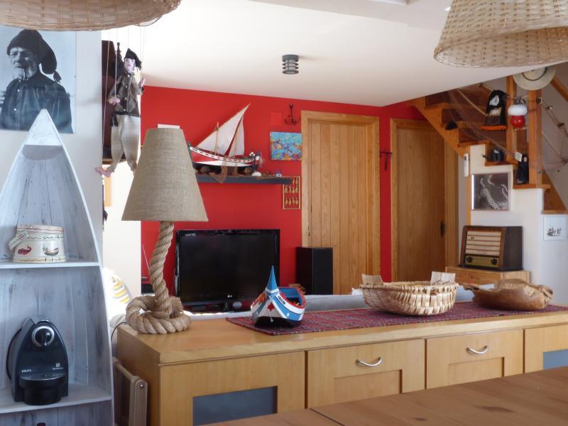 Open Space: vista da sala de jantar para sala de estar