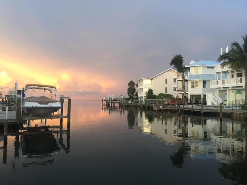 View from the house to Anna Maria sound in the evening