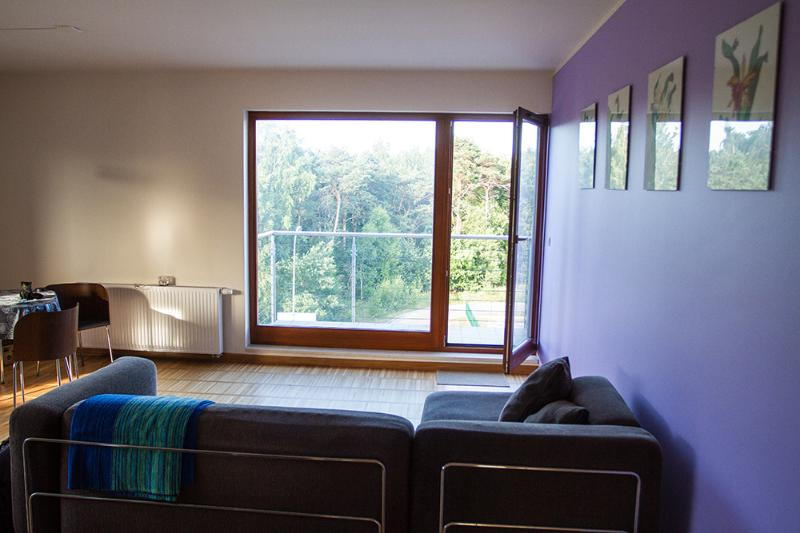 Seaside flat overlooking forest (National Park), vacation rental in Jastarnia