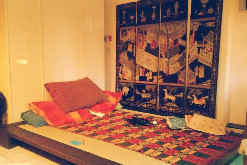 Futon in living room double (Japanese mattress available)