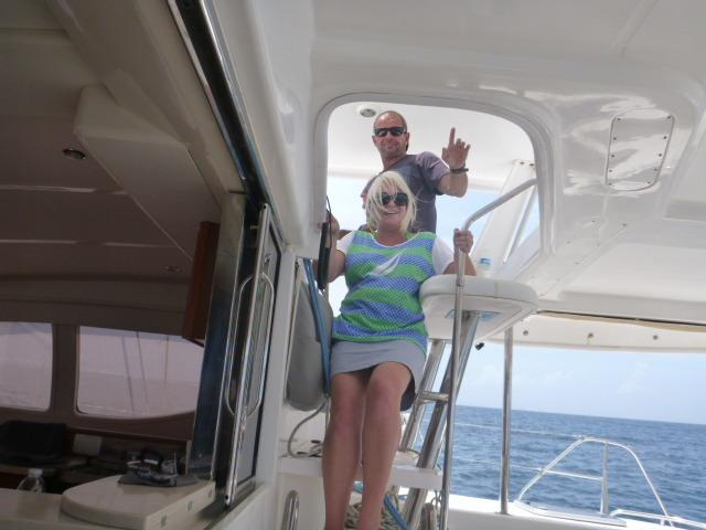 Your Captain Steve & Hostess Tania welcome you on-board La Vie