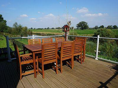 Malvern cottage rental - Balcony showing the proximity to the river and stunning rural views