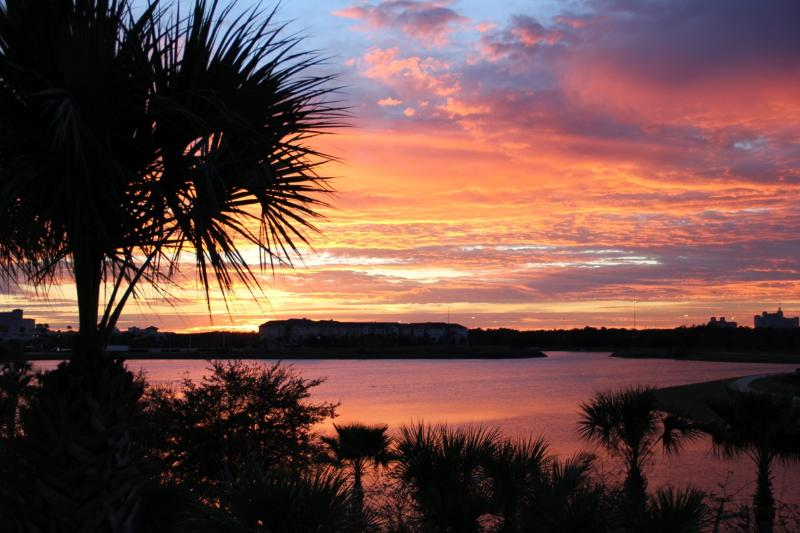 Sunrise over Lake Cay from your balcony