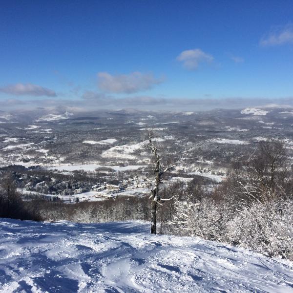 Vista desde la parte superior del esquí de montaña de Windham