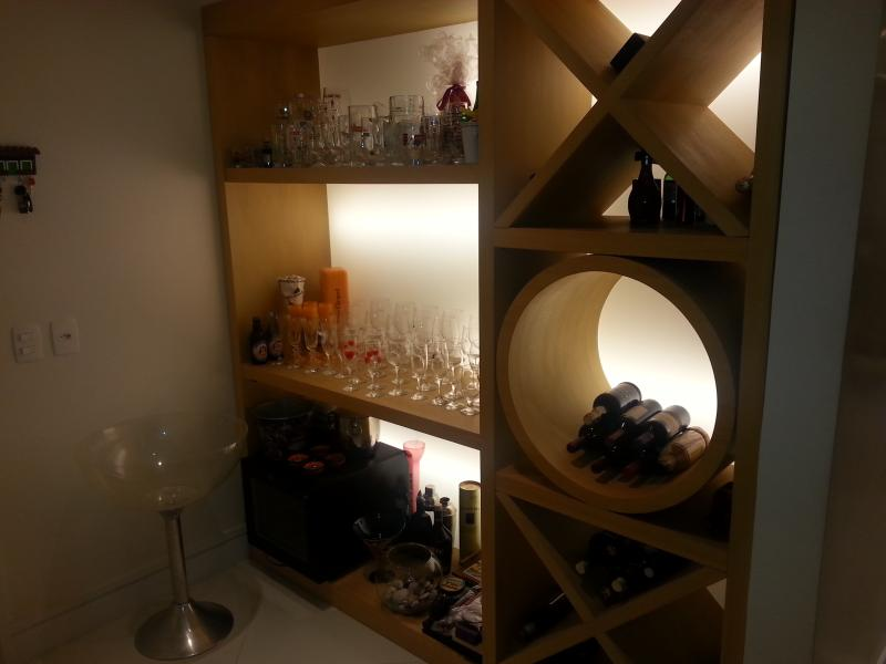 lit up for a good wine cellar
