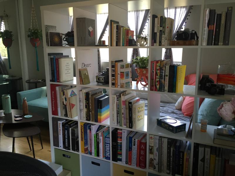 Fully stocked bookshelf