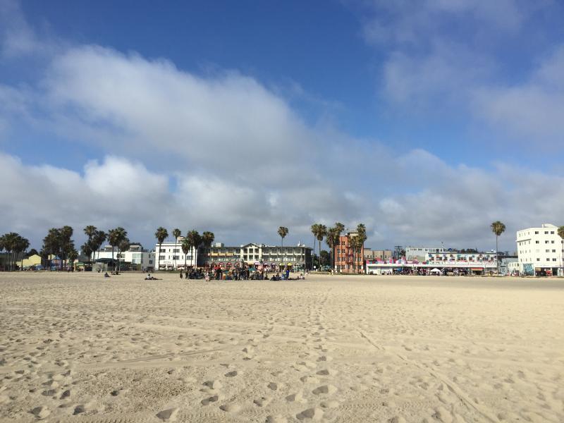 Venice Beach, vue depuis l'eau !