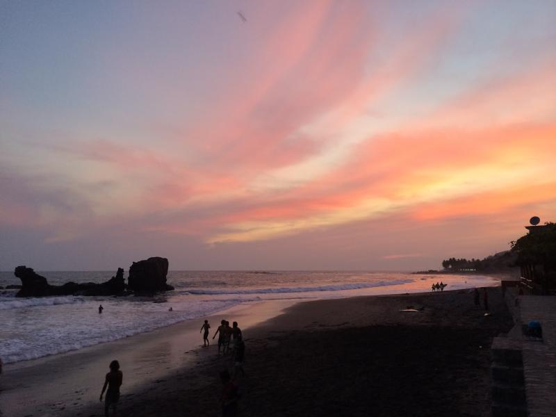 Enjoy the beautiful pacific sunsets from the third floor terrace, or take a short walk to the beach!