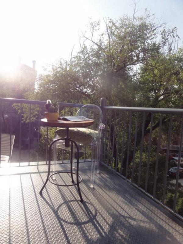 Balcon privé hors salon