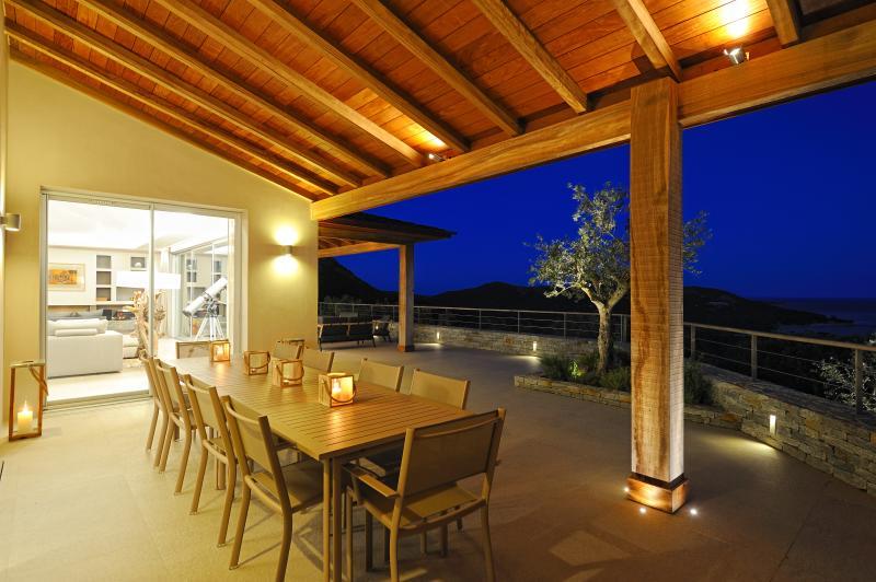 Dinner outside on terrace 2