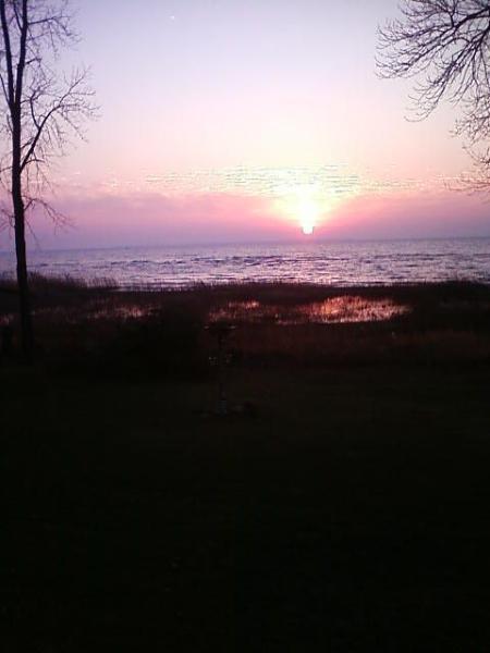 Sun rise on the Bay.