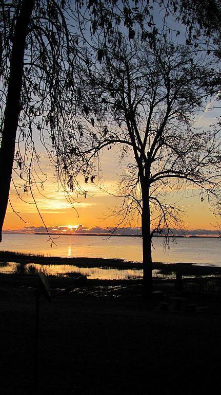 Sun rise across the Bay.'million dollar view'