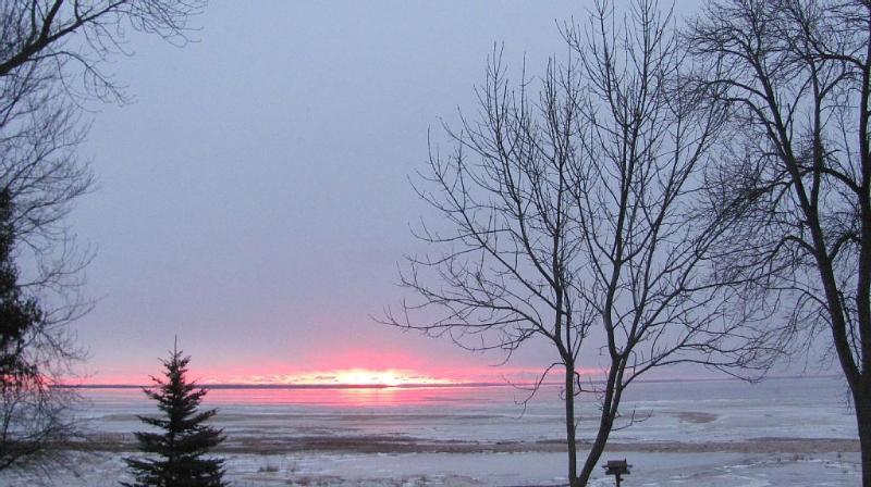 Winter sun rise.