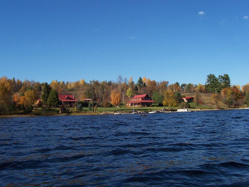 A view of Canonto Lodge from Norcan Lake.