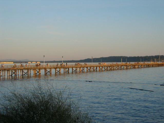 The Pier - longest wooden pier in Canada.