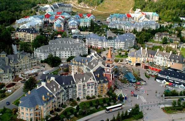 Aerial view of the Tremblant pedestrian village