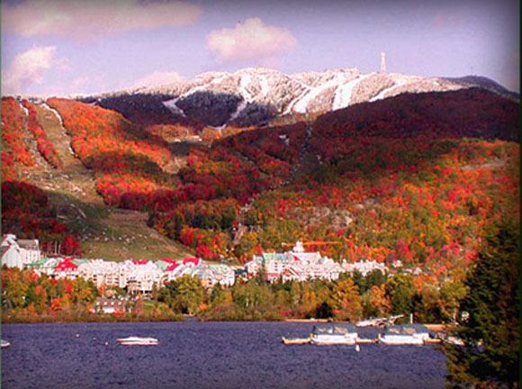 Tremblant mountain in the Fall