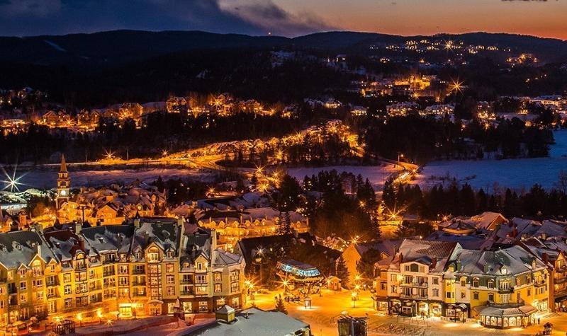 Tremblant Village at night