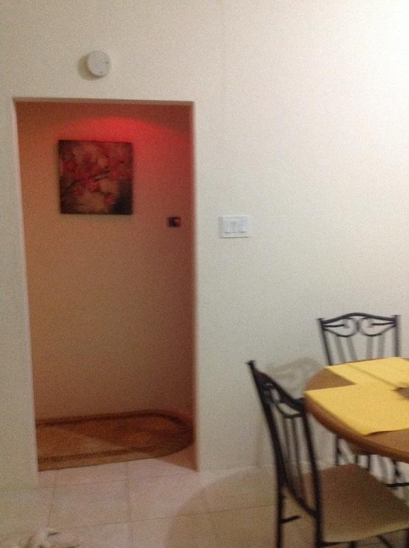 Hallway leading to 2 bedroom suite