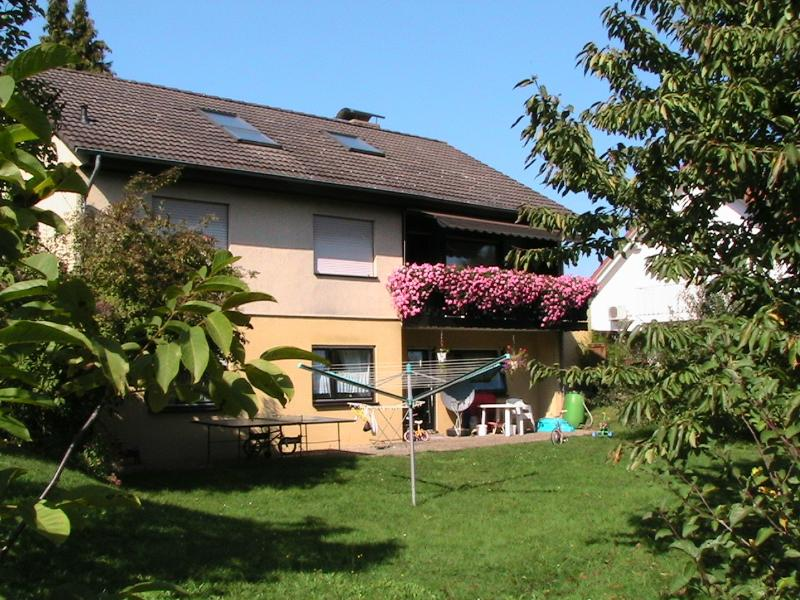 our House in the Odenwald str. 9 from the garden side seen