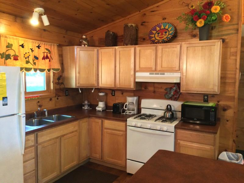 Kitchen features brand new stove/oven and microwave