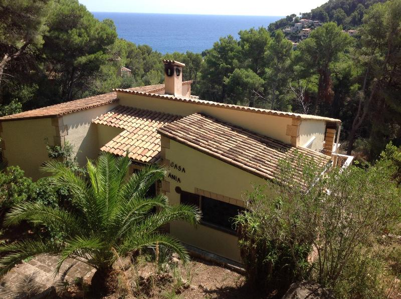 Casa Ania sits amongst the pine trees with views of the sea and the cliff tops.