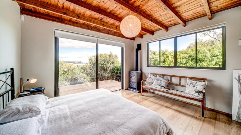 master bedroom with direct access to the sun deck