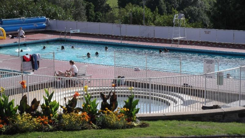 Mortain open air pool, summer months, heated to 30°