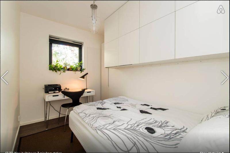 Guest room / Office with a (foldable) double bed. Queens size. 2nd floor.