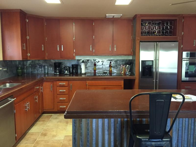 kitchen...top-end appliances and custom work everywhere!