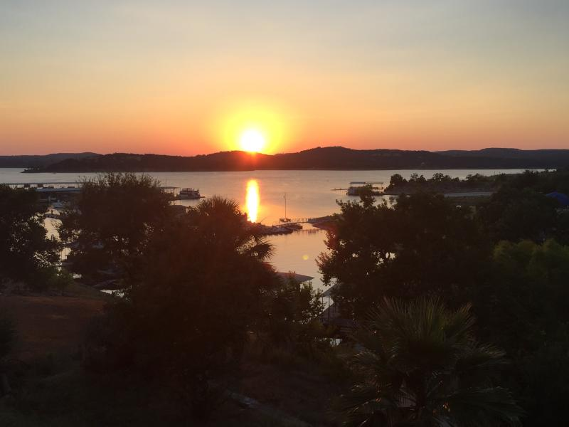 Gorgeous Sunsets from the deck over the lake