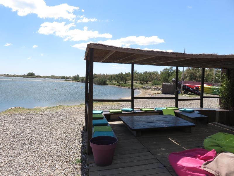 Hire watersports equipment or take your own to use in the safe lagoon on the edge of the village