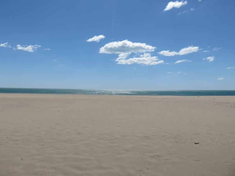 Plenty of space on the wide and long golden sand beach