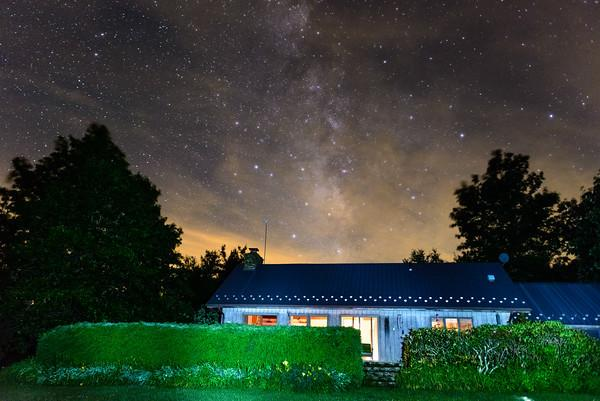 Milky Way over the cabin.