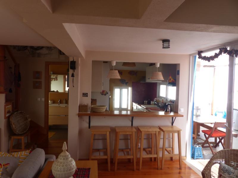 Open Space: vista para balcão de cozinha