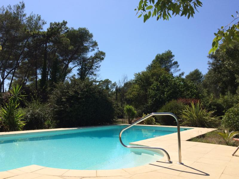 Large private pool nestling among trees
