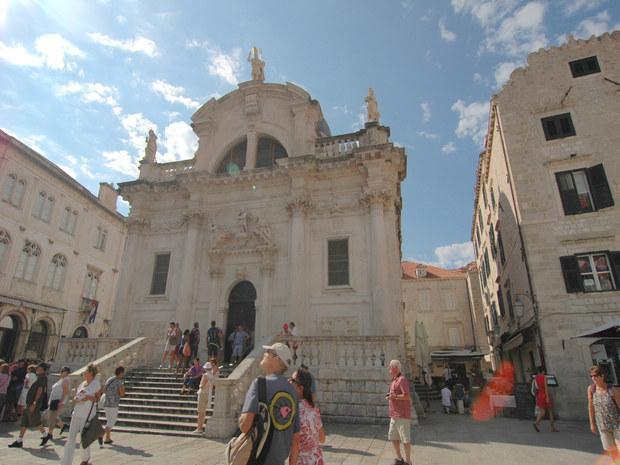 St.Blaise Church,Stradun Str. Royale apartment is just behind the church, near Oliva Pizzeria