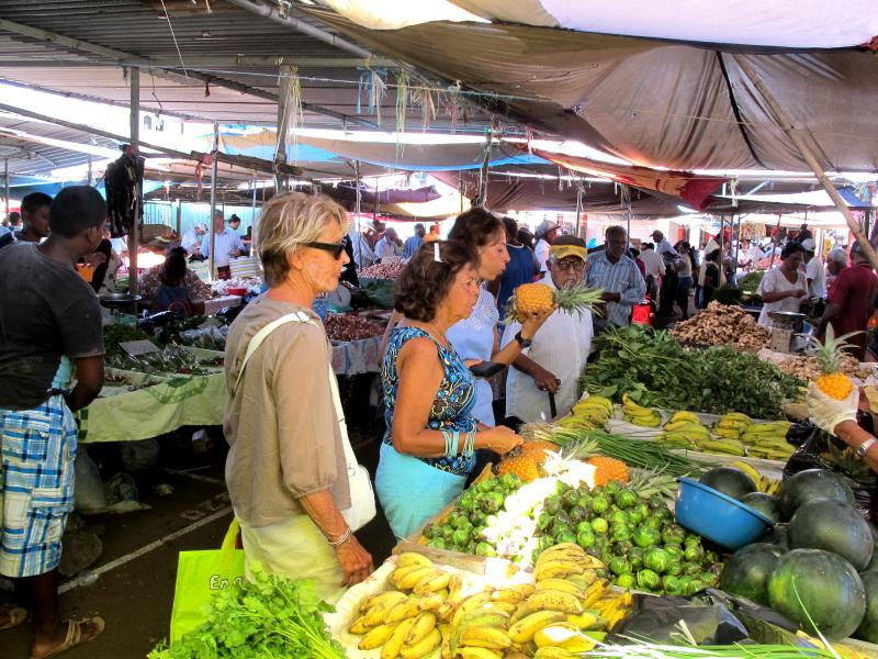 Mercado de frutas y vegetales de Mahebourg
