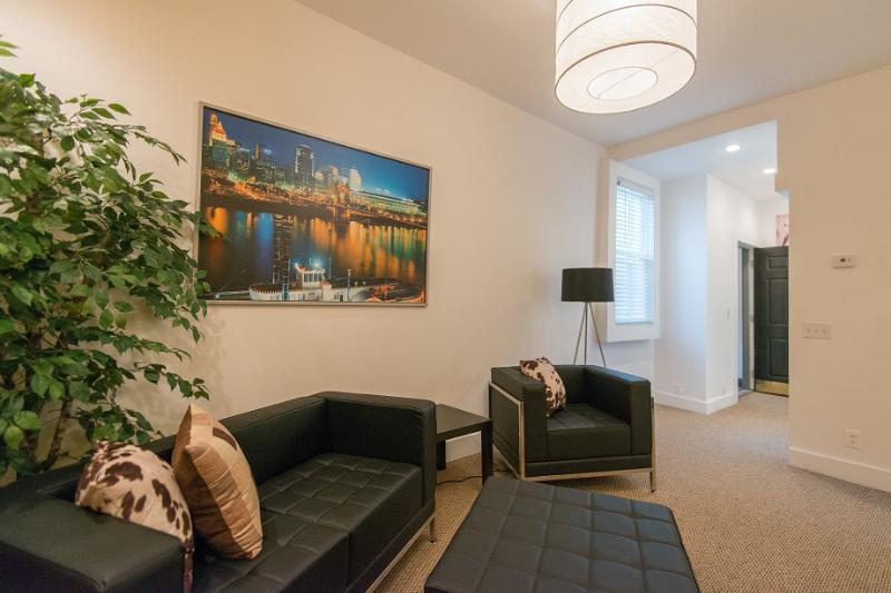 Salon HomeLinkCincinnati appartement meublé