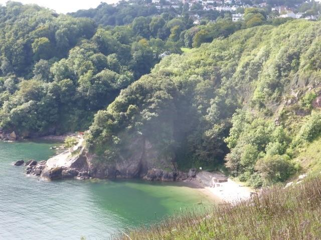 Ansteys Cove - one of many such coves with a beach cafe.