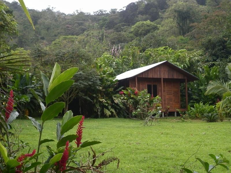 Cabaña con vista al jardin