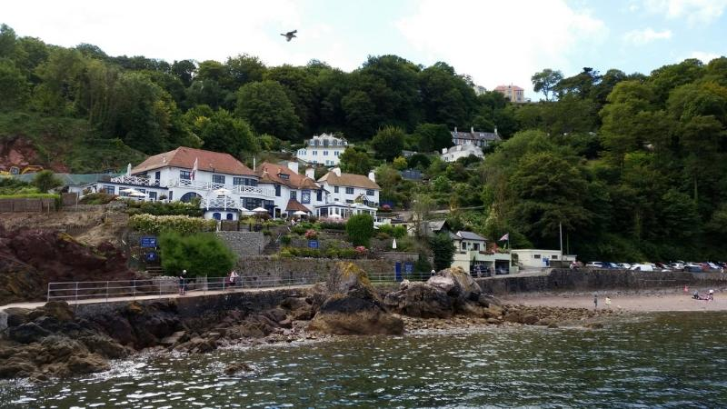 The Cary Arms at Babbacombe Beach. A steep descent but worth it!